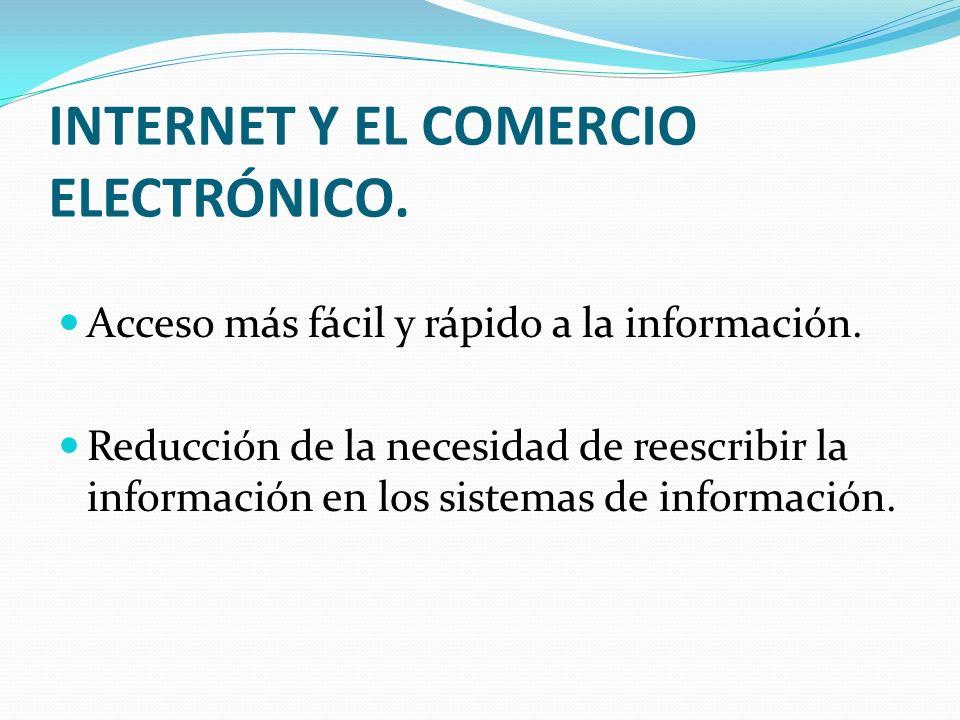 INTERNET Y EL COMERCIO ELECTRÓNICO.