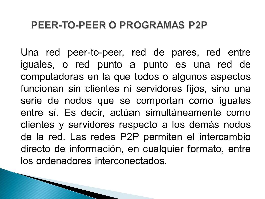 PEER-TO-PEER O PROGRAMAS P2P