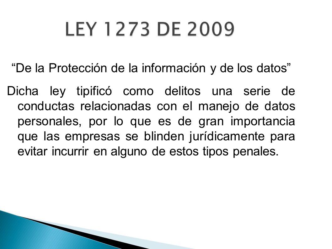 De la Protección de la información y de los datos