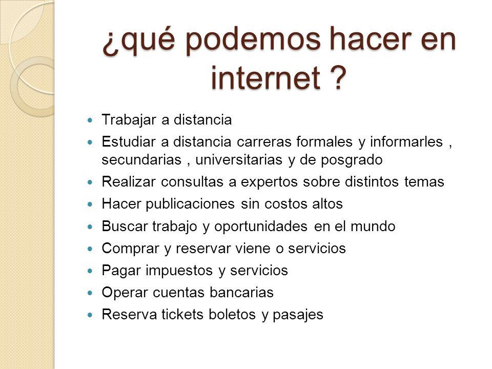 ¿qué podemos hacer en internet