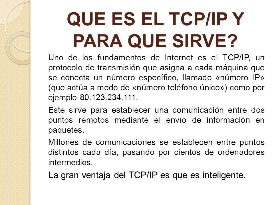 QUE ES EL TCP/IP Y PARA QUE SIRVE