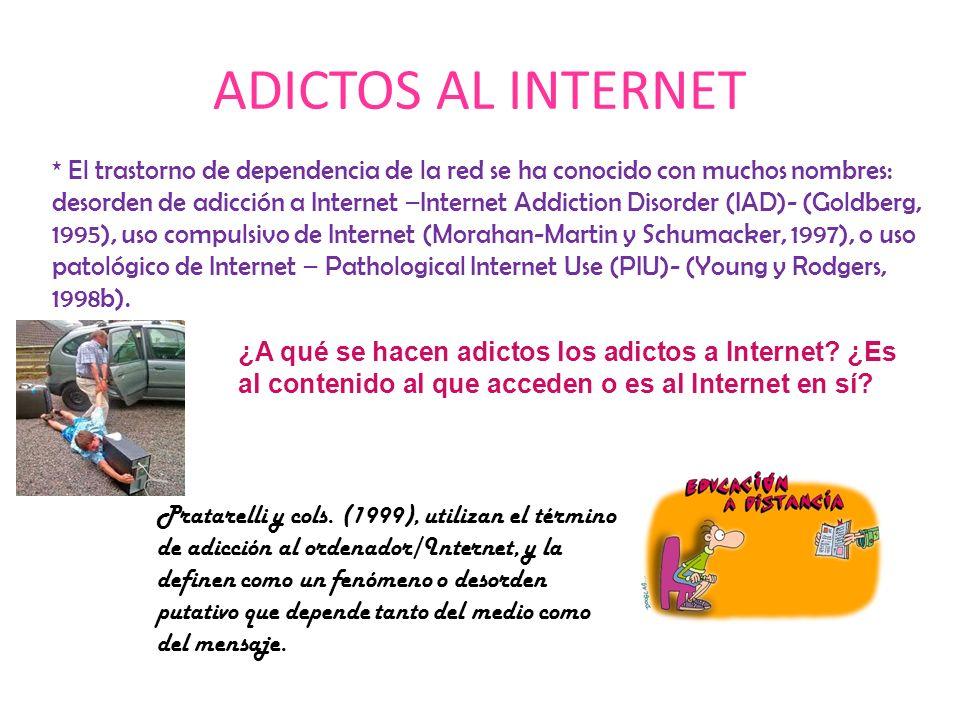ADICTOS AL INTERNET