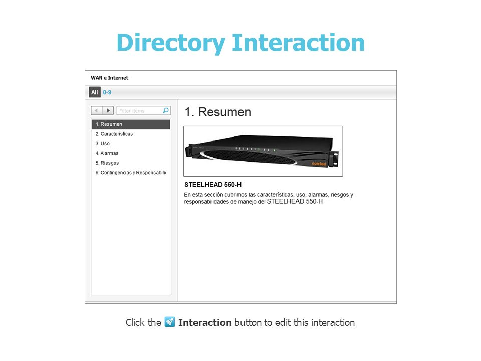 Directory Interaction