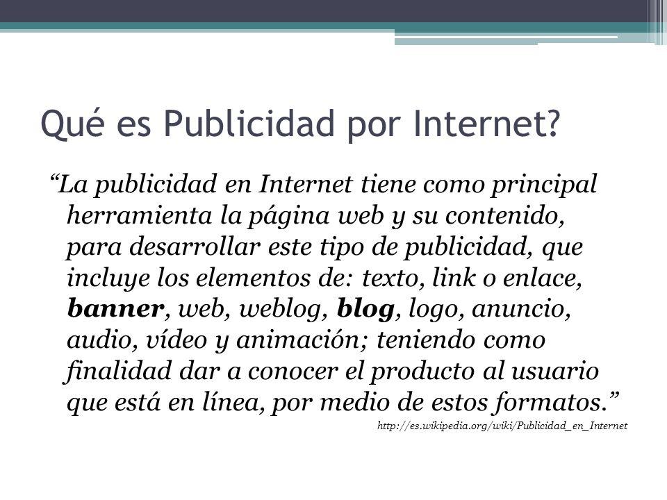 Qué es Publicidad por Internet