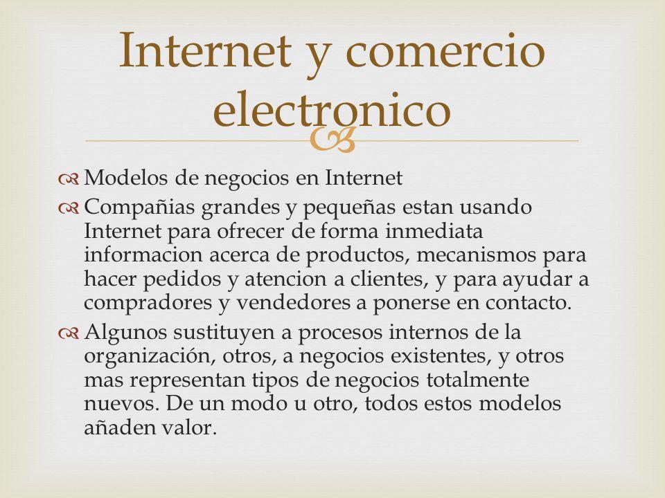 Internet y comercio electronico