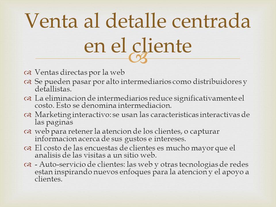 Venta al detalle centrada en el cliente