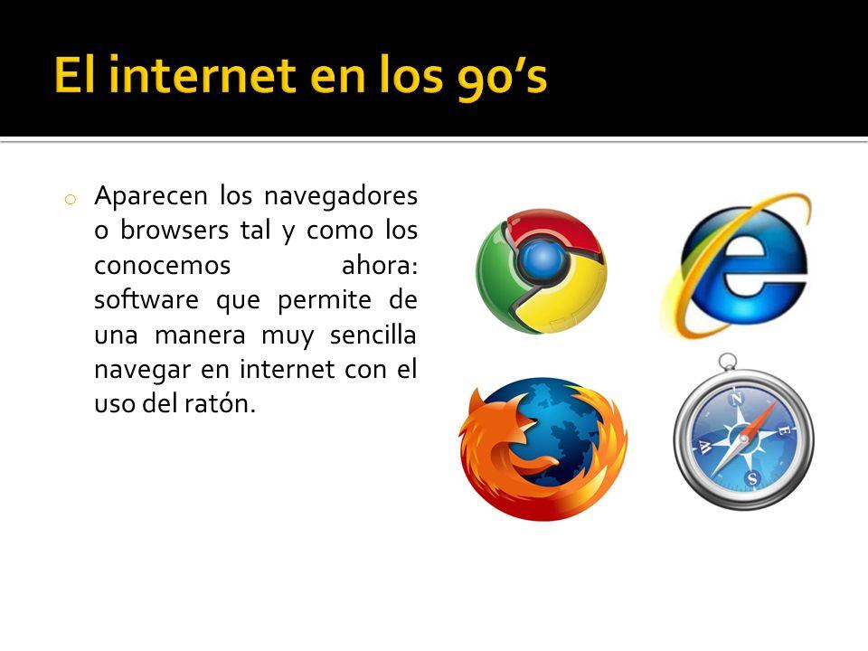 El internet en los 90's