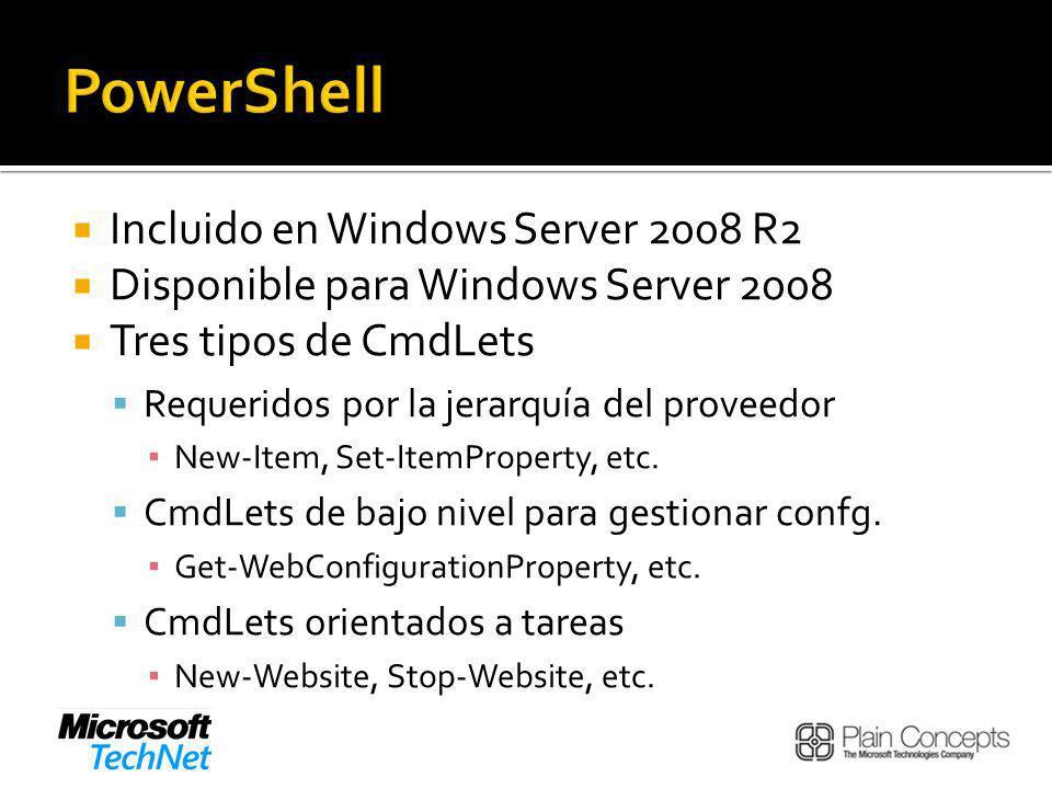 PowerShell Incluido en Windows Server 2008 R2