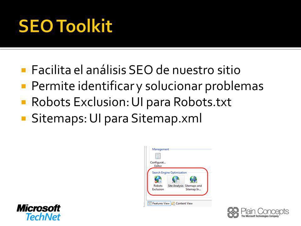 SEO Toolkit Facilita el análisis SEO de nuestro sitio