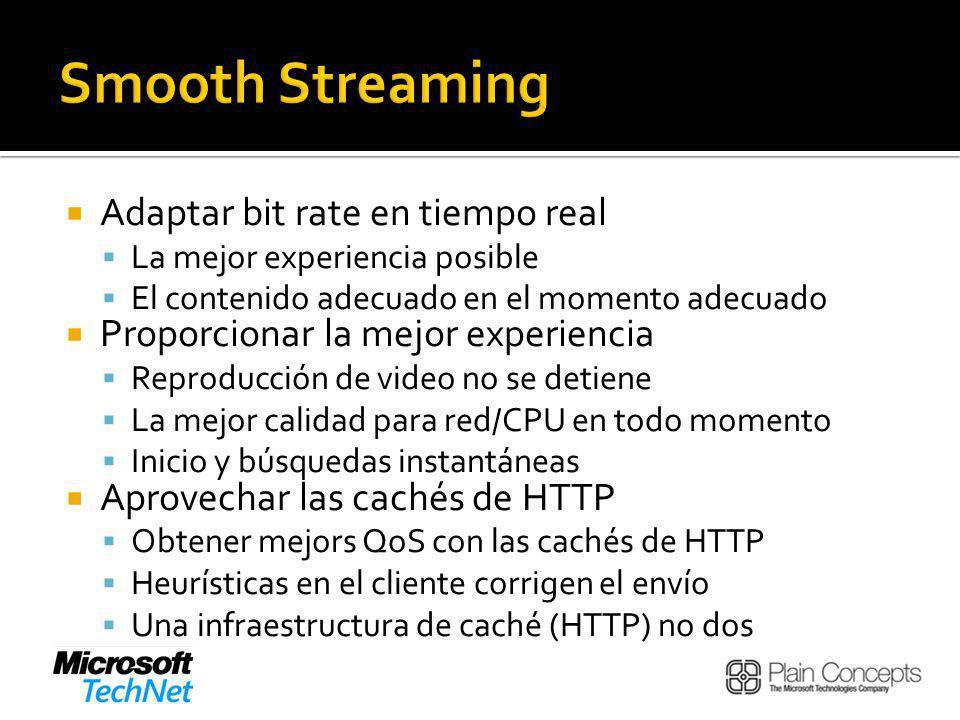 Smooth Streaming Adaptar bit rate en tiempo real