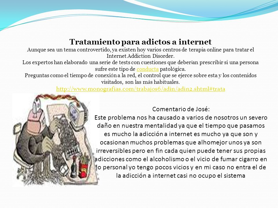 Tratamiento para adictos a internet