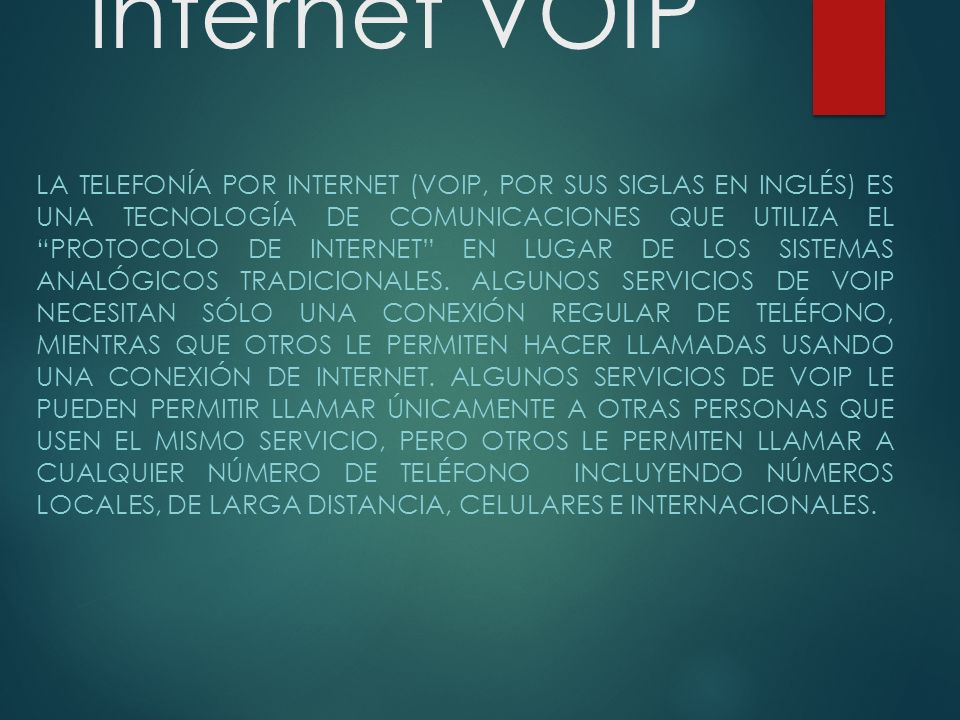 Telefonia por internet VOIP