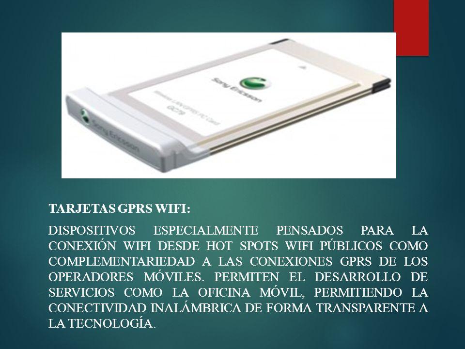 Tarjetas GPRS WiFi: