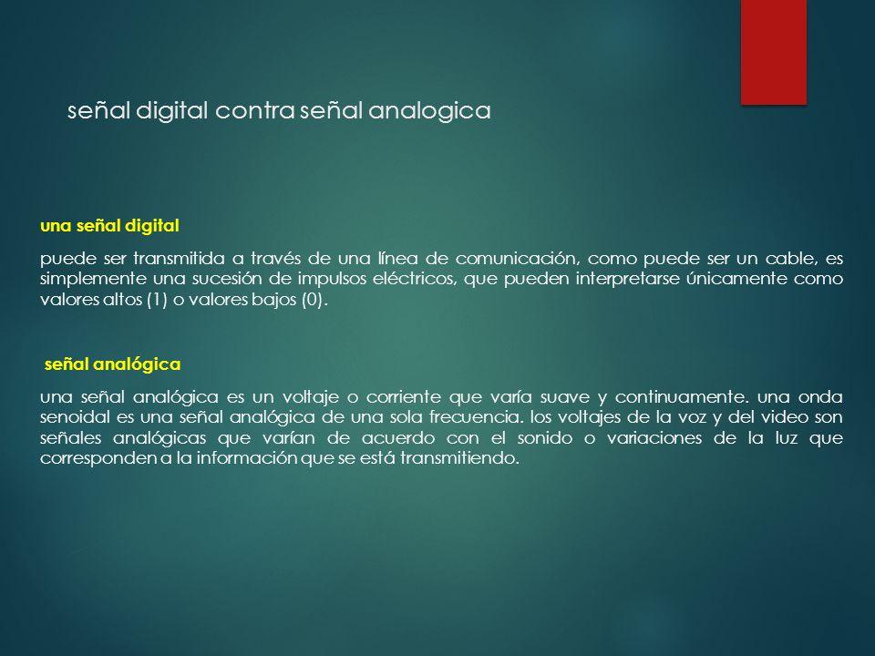 señal digital contra señal analogica