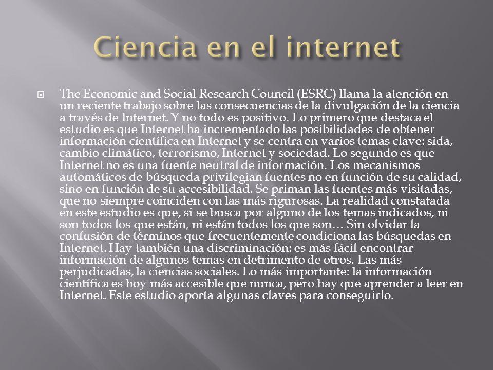 Ciencia en el internet