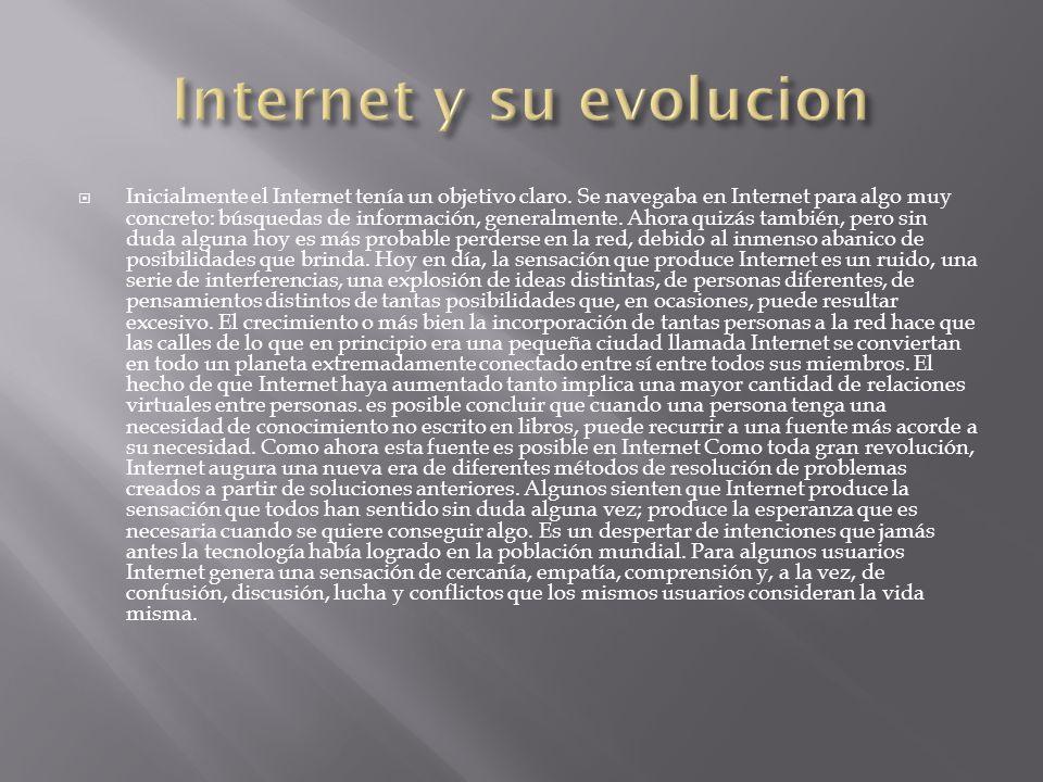 Internet y su evolucion