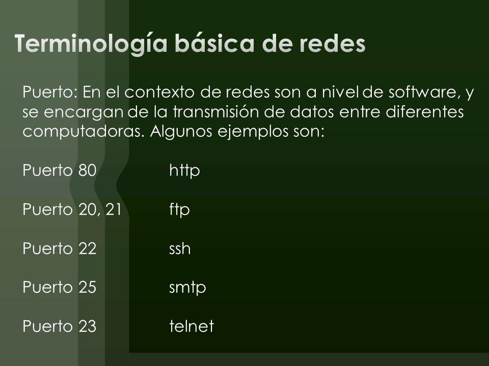 Terminología básica de redes