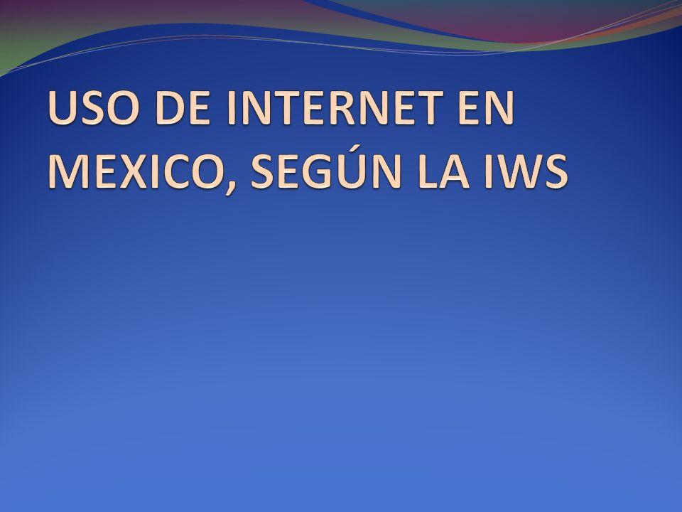 USO DE INTERNET EN MEXICO, SEGÚN LA IWS
