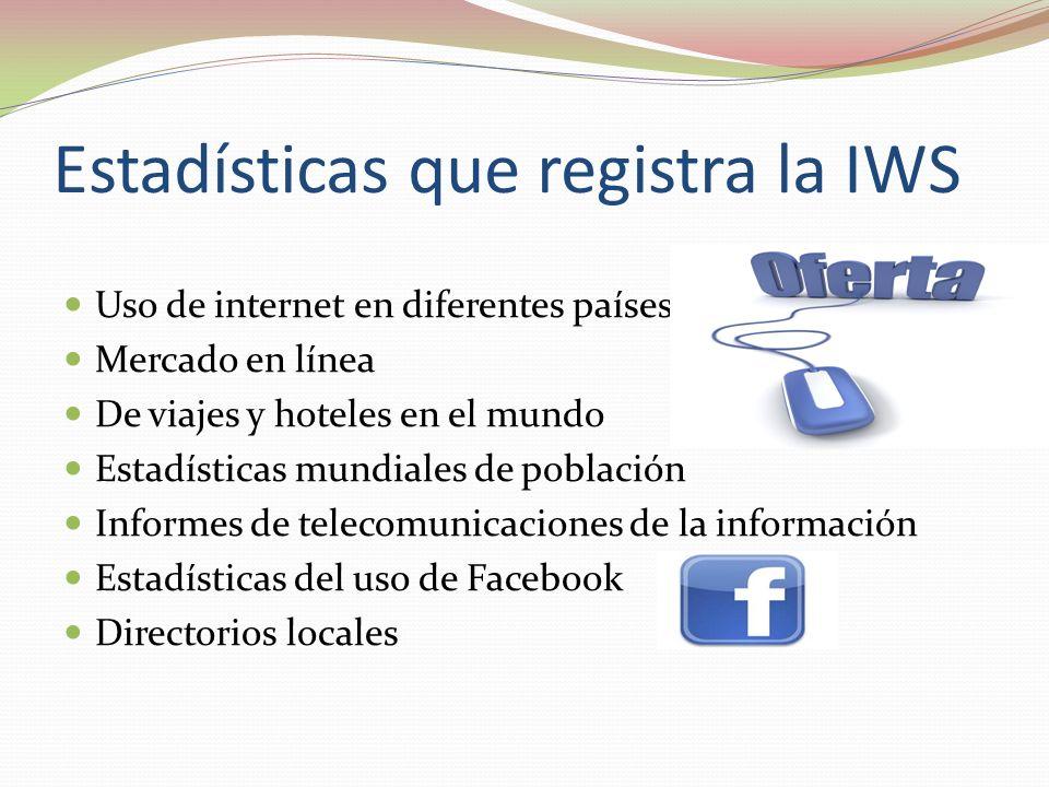 Estadísticas que registra la IWS