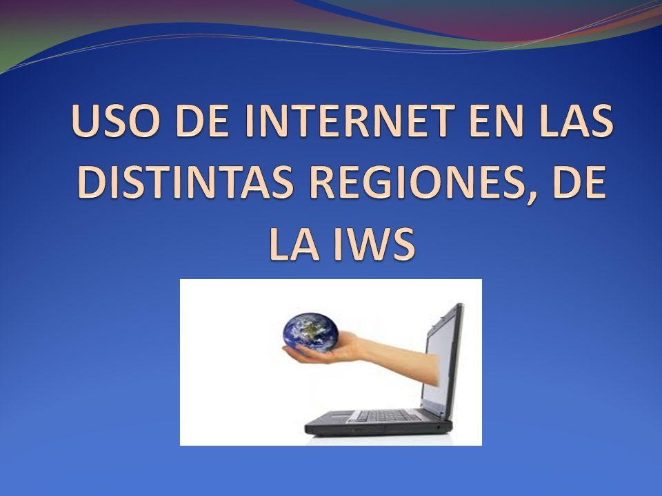 USO DE INTERNET EN LAS DISTINTAS REGIONES, DE LA IWS