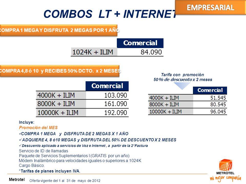 COMBOS LT + INTERNET EMPRESARIAL