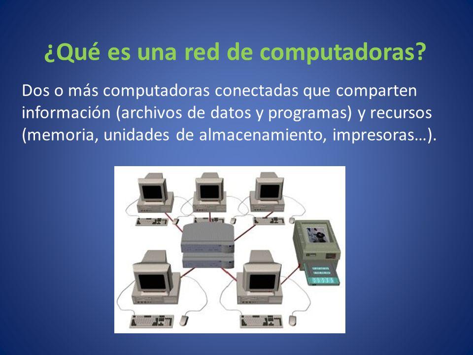 ¿Qué es una red de computadoras