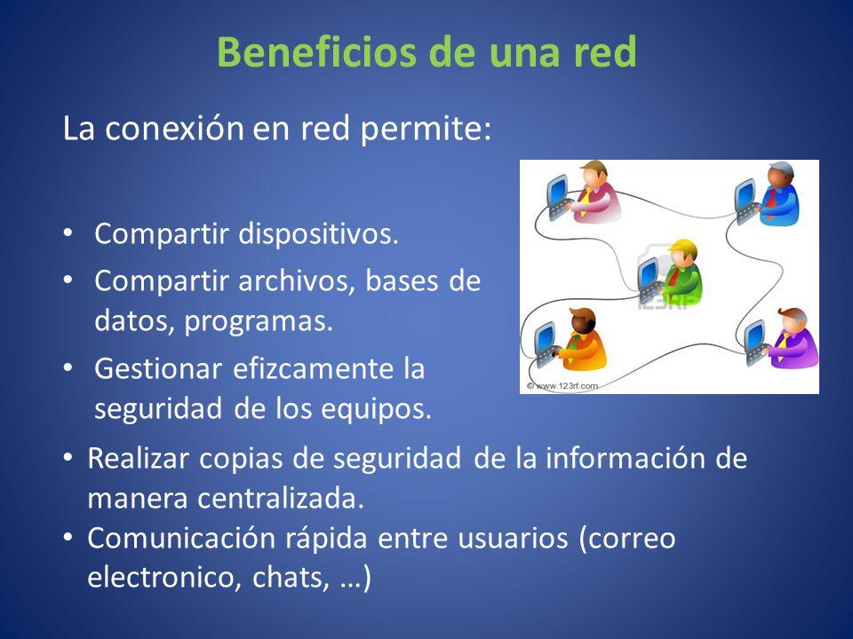 Beneficios de una red La conexión en red permite: