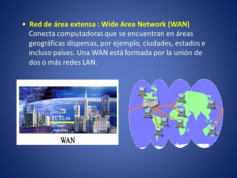 Red de área extensa : Wide Area Network (WAN)