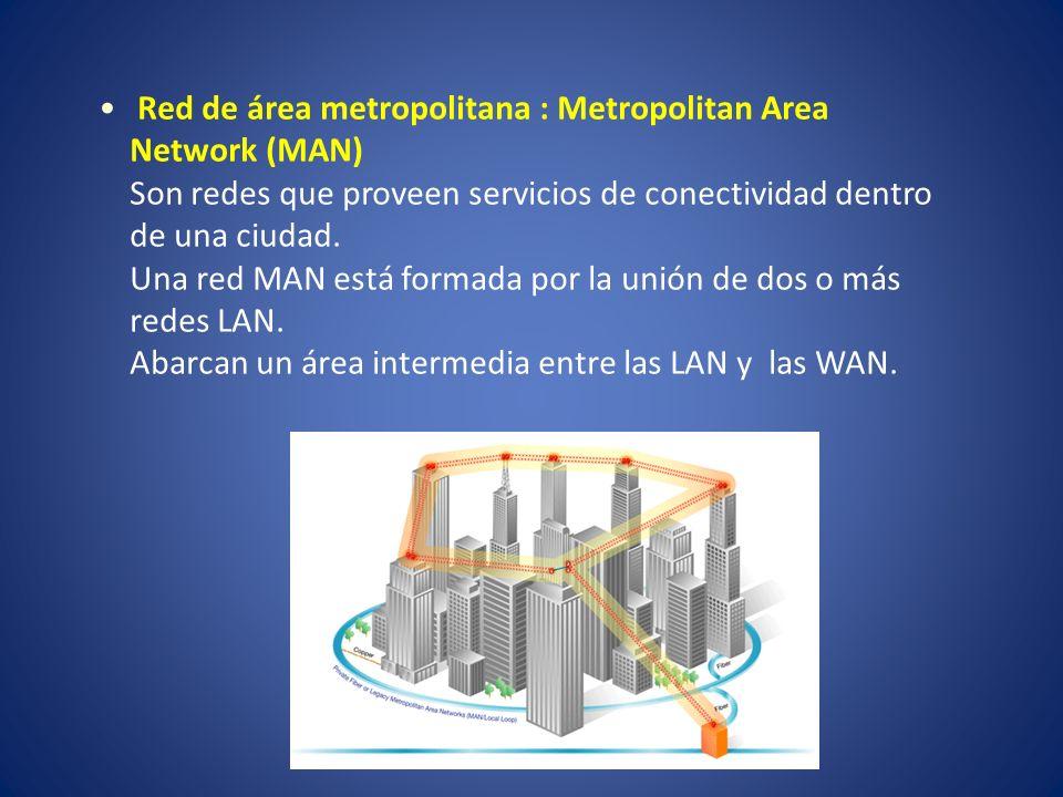 Red de área metropolitana : Metropolitan Area Network (MAN)