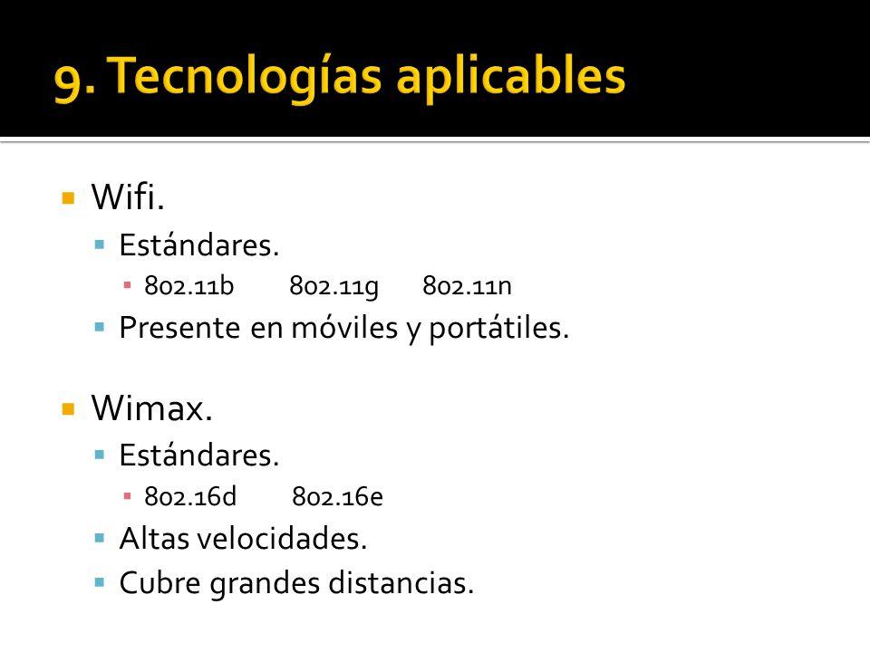 9. Tecnologías aplicables