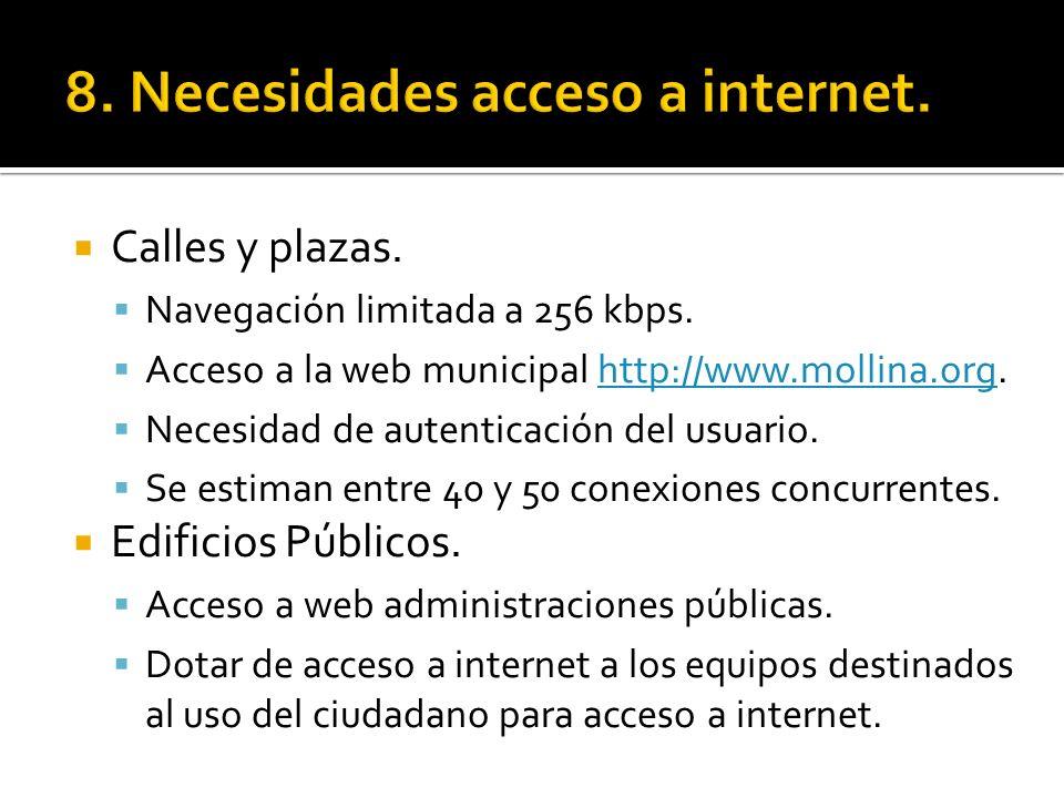 8. Necesidades acceso a internet.