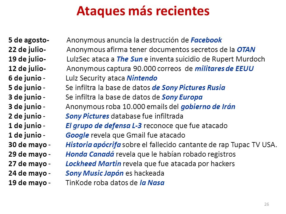 Ataques más recientes 5 de agosto- Anonymous anuncia la destrucción de Facebook.