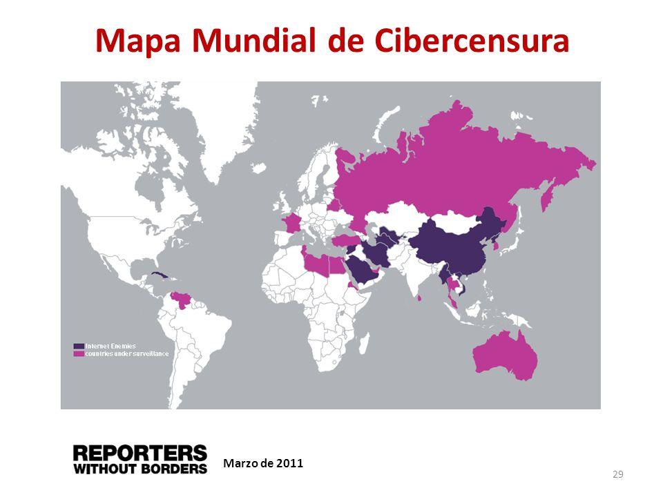 Mapa Mundial de Cibercensura