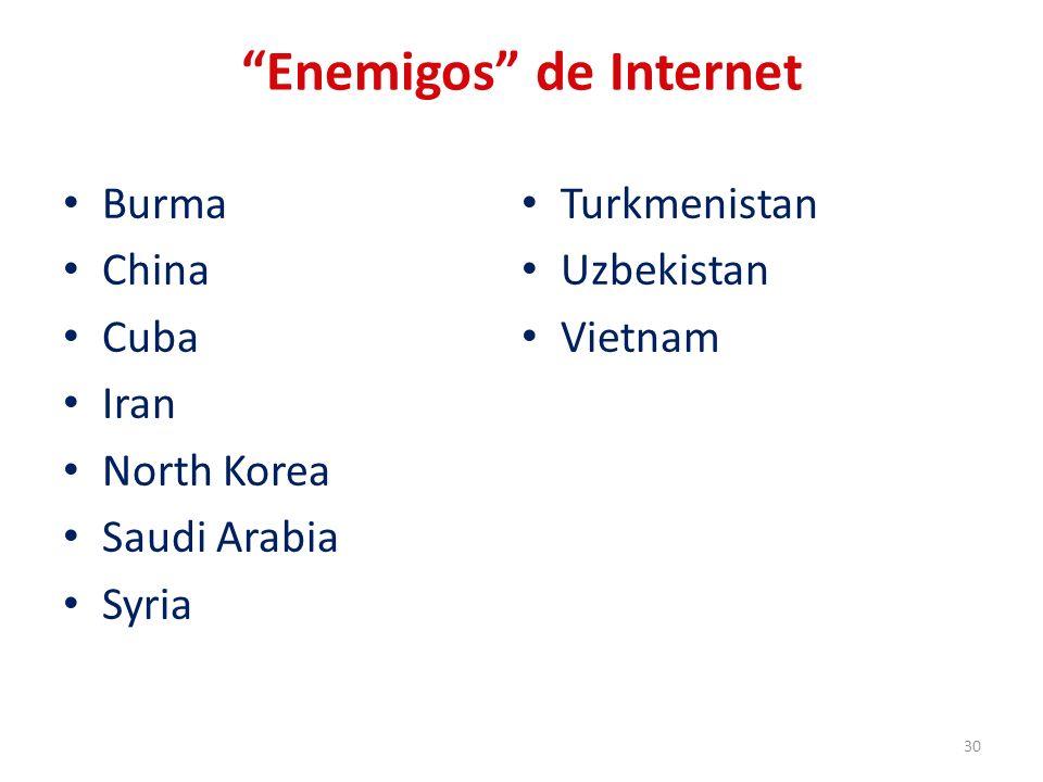 Enemigos de Internet