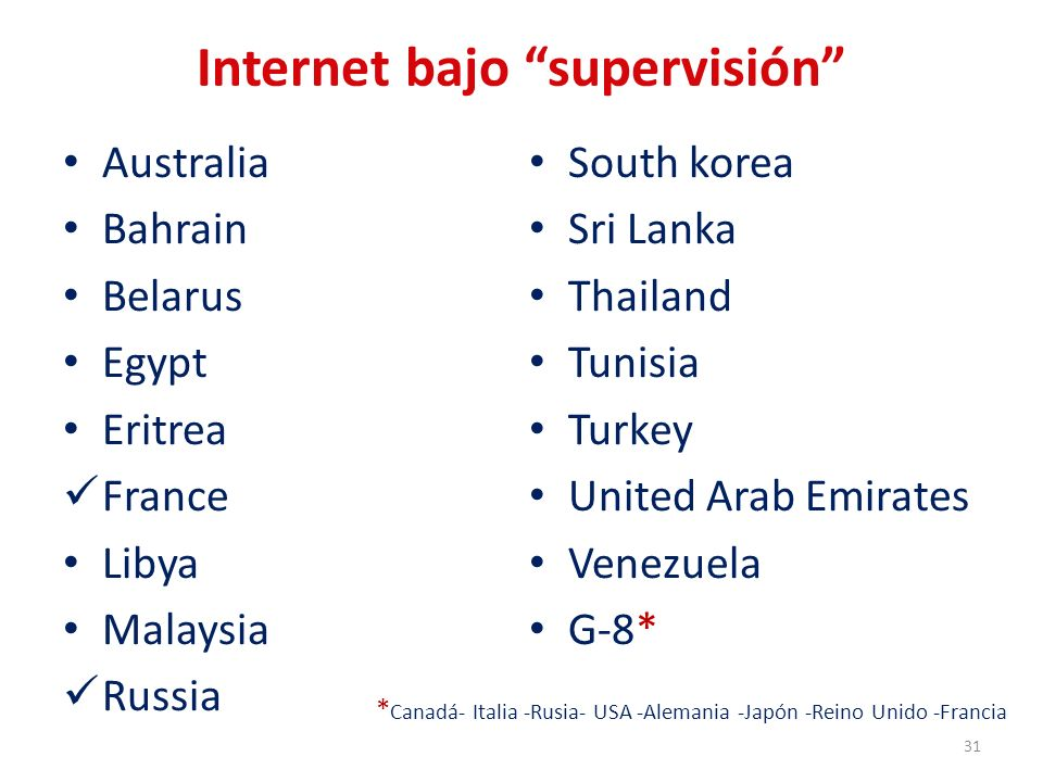 Internet bajo supervisión