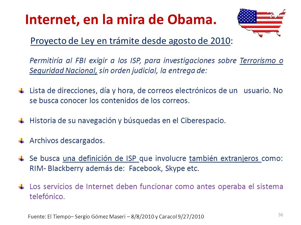 Internet, en la mira de Obama.