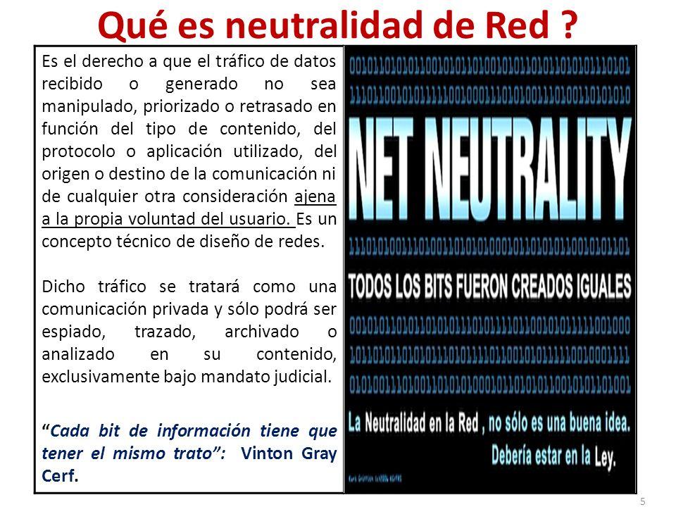 Qué es neutralidad de Red