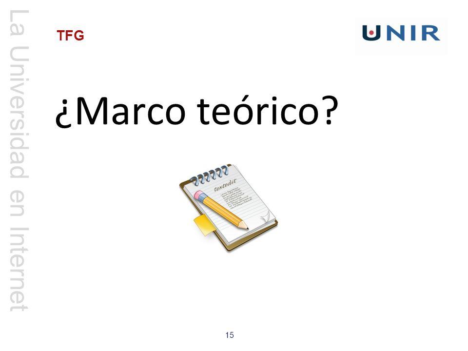 ¿Marco teórico