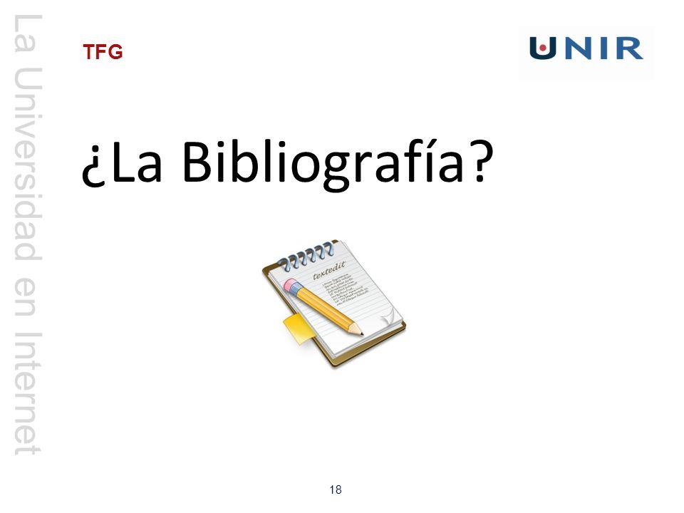 ¿La Bibliografía