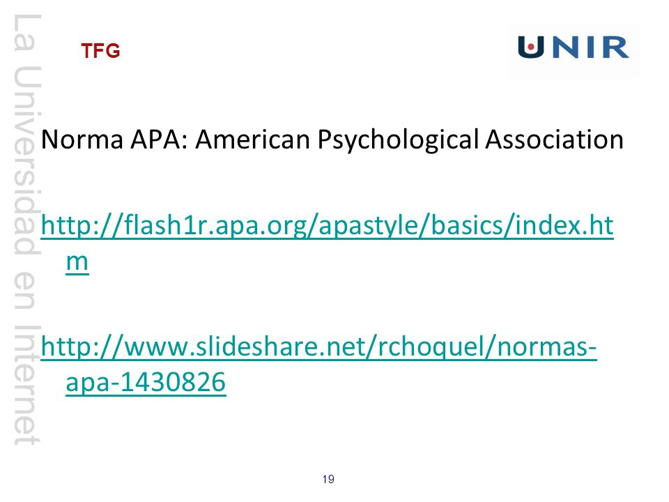 Norma APA: American Psychological Association