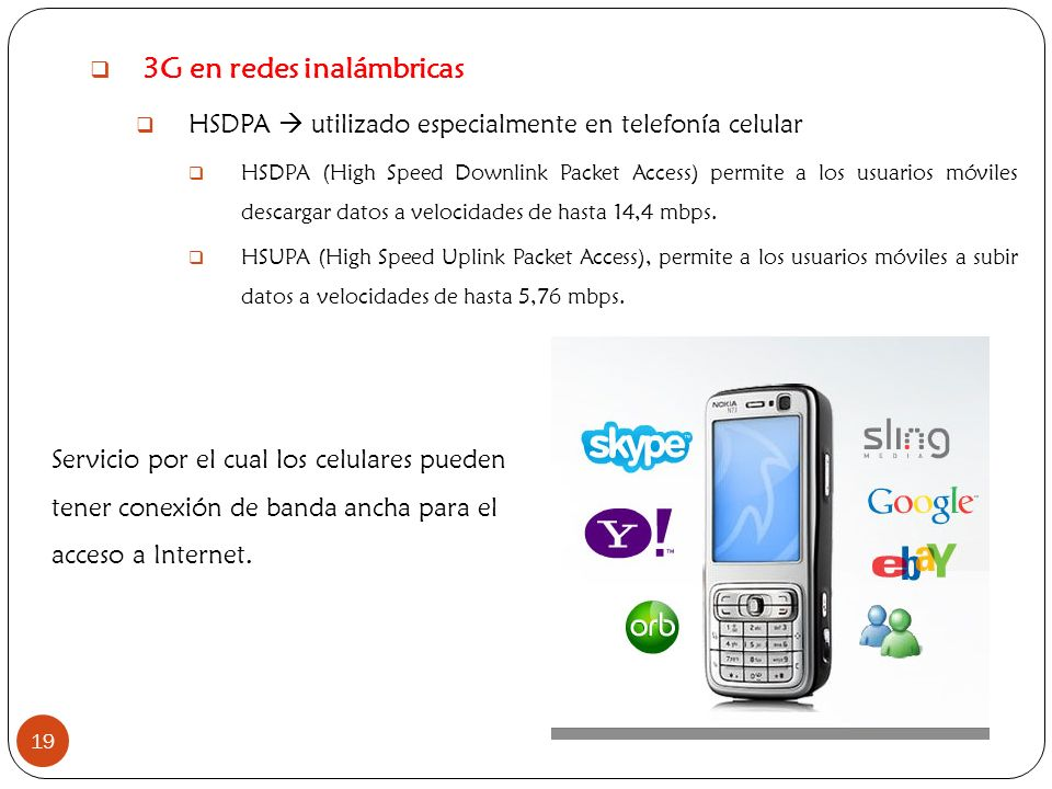 3G en redes inalámbricas