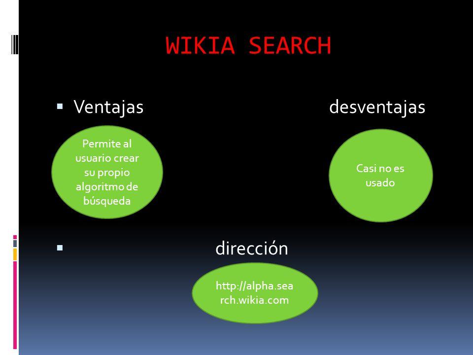 Permite al usuario crear su propio algoritmo de búsqueda
