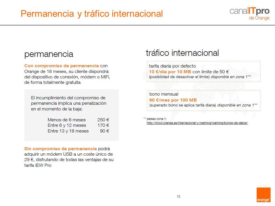 Permanencia y tráfico internacional