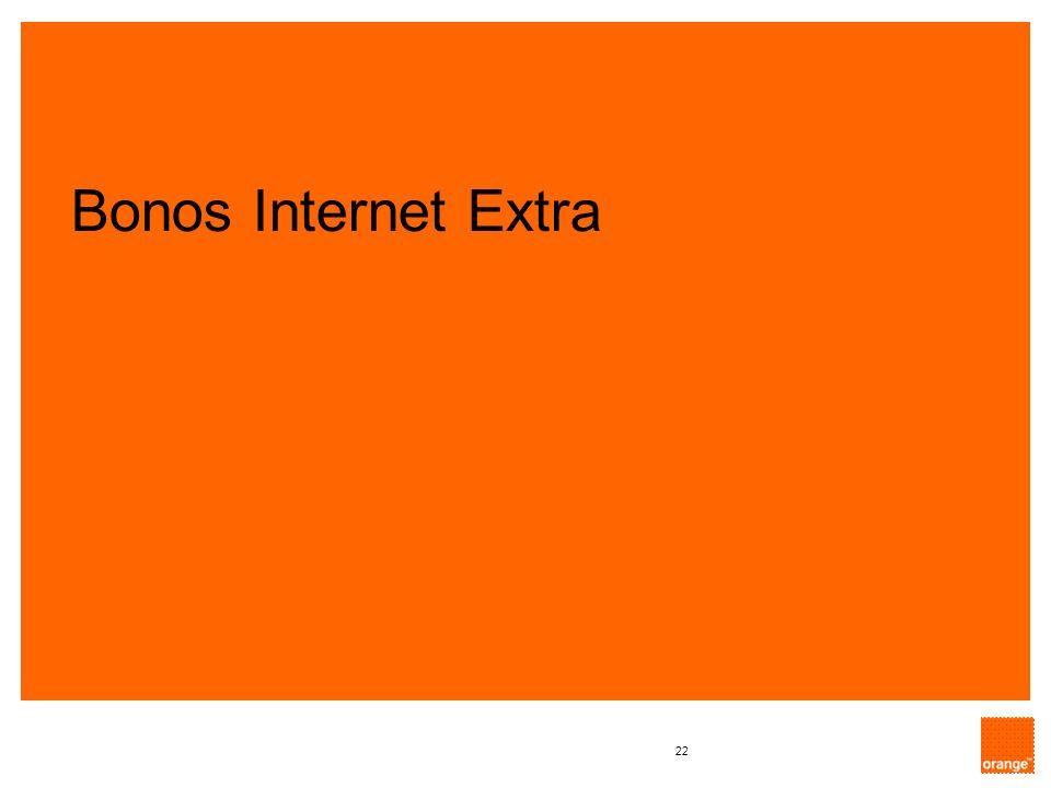 Bonos Internet Extra