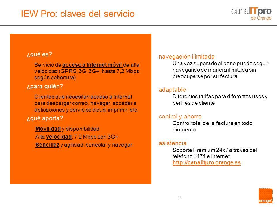 IEW Pro: claves del servicio