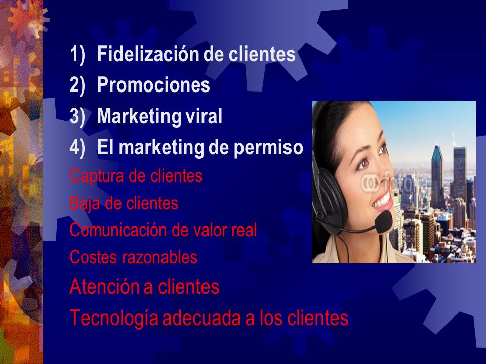 Fidelización de clientes Promociones Marketing viral