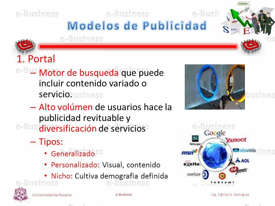 Modelos de Publicidad 1. Portal