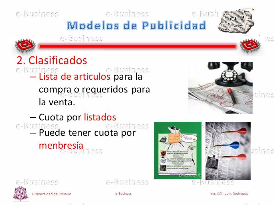 Modelos de Publicidad 2. Clasificados