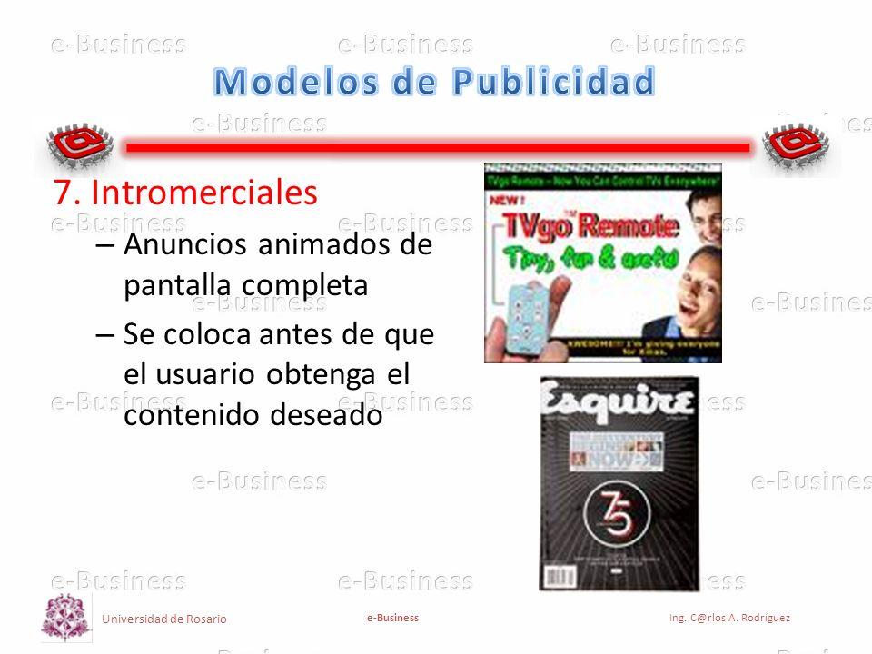 Modelos de Publicidad 7. Intromerciales