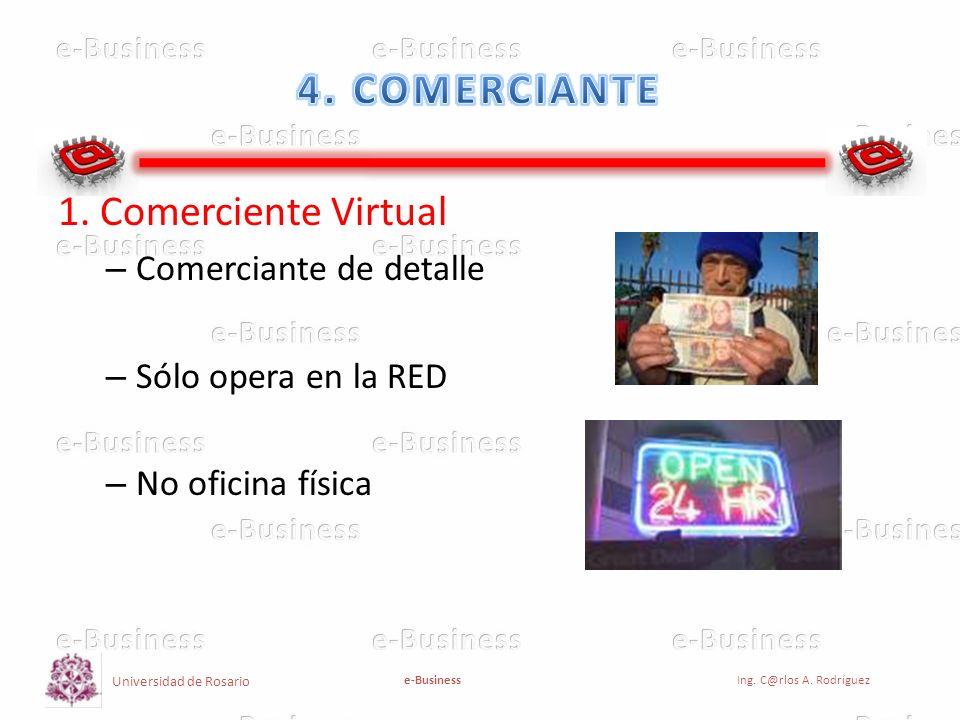 4. COMERCIANTE 1. Comerciente Virtual Comerciante de detalle
